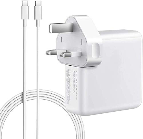 87W USB-C Power Adapter Charger Compatible with Macbook Pro 12'' 13'' 15'' 2016 Late MacBook Air 2018 Late, with 2M USB C Cable, White