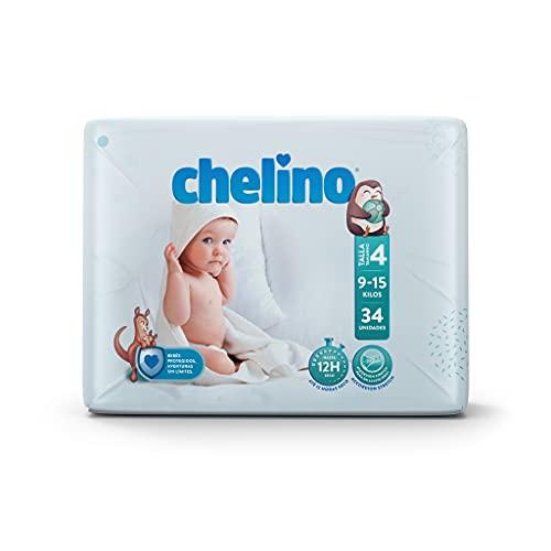 Chelino Pañal infantil Talla 4 Gateo (9-15kg), 204 Pañales