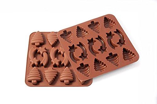 silikomart 22.501.77.0069 Stampi, Silicone, Marrone, 1.2 x 15.5 x 16.3 cm