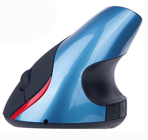 EIGIIS Wireless Ergonomic Mouse 2.4G High Precision Vertical Optical Mouse (Blue)