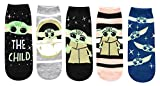 Star Wars Baby Yoda Chibi Art Juniors/Womens 5 Pack Ankle Socks
