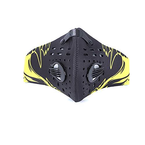 Stoffen Masker, Outdoor Fietsen Maskers Anti-Mist Masker Gedrukt Geactiveerde Koolstof Cartoon Maskers Geel