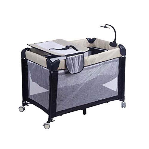 N/Z Living Equipment Cama Plegable Cambiador de pañales para bebés Mesa de Tela con Ruedas Mesa Pañal para bebés Malla Transpirable (115cmX60cmX80cm)