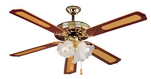 AVANT Ventilador de Techo Ventilador de Techo con luz| 3 Velocidades| Medida 132Cm |Ventilador de Techo Incluye 5 Aspas de Fibra+3 Lámpara+2 Cadenas para Control de Velocidad y luz |Potencia 60W.