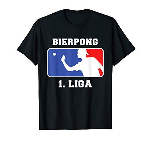 Bierpong 1. Liga Team Beer Pong League Bier Pong Geschenk T-Shirt