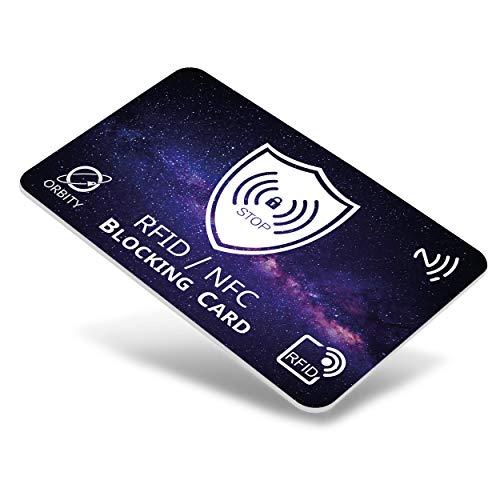 ORBITY   Carta di Blocco   Proteggi Carte di Credito Contactless   Protezione RFID/NFC Anti Clonazione   Custodia Carte di Credito Chip Sicurezza. (OrbityCard)