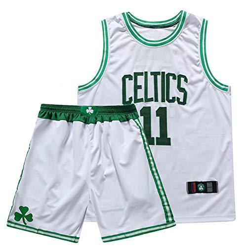 SSRSHDZW NBA Celtics nueva temporada No. 11 Irving Jersey uniforme de baloncesto bordado completo, blanco, XXS