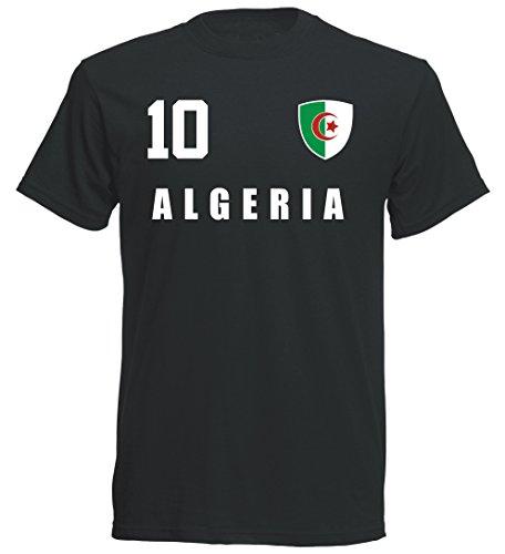 Algerien WM 2018 T-Shirt Trikot - schwarz ALL-10 - S M L XL XXL (S)