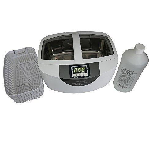 iSonic brand Professional Grade Ultrasonic Cleaner P4820-SPB25 for Brass Cleaning, 25-min Timer, Plastic Basket, Solution 1Qt