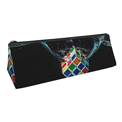 Water Magic Cube Pencil Bag Pen Case, Compact Zipper Pencil Pouch Bag for Office School Student Boys Girls