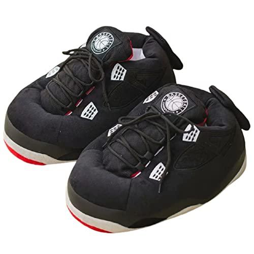 [スーツケースカンパニー]GPT ルームシューズ スポーツシューズ型 スニーカー型 メンズ レディース 子供 スリッパ 室内履き かかと付き 防寒 滑り止め おしゃれ かわいい 面白い ぬいぐるみ ブラック