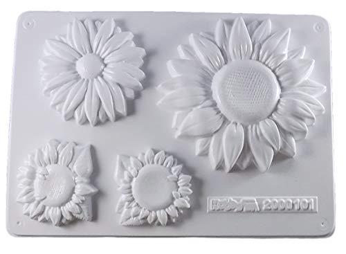 Gießform Sonnenblumen 4 Blumen Gr. 6-12,5 cm