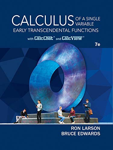 Bundle: Calculus of a Single Variable: Early Transcendental Functions, 7th + WebAssign for Larson/Edwards' Calculus: Ear