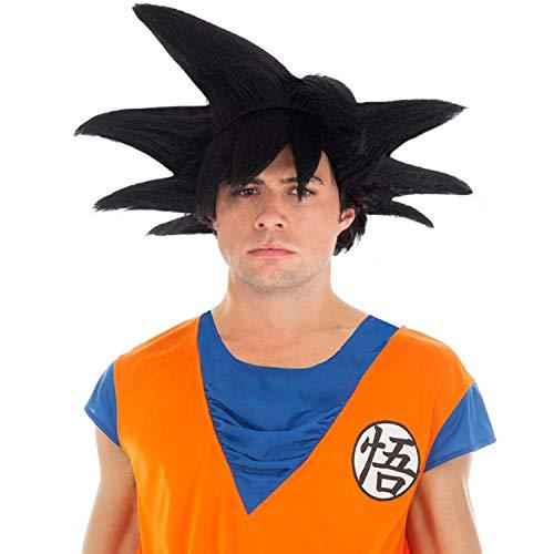 KULTFAKTOR GmbH Dragon Ball-Perücke Son Goku Accessoire schwarz Einheitsgröße