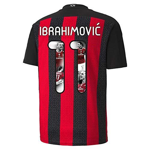 PUMA AC Mailand Ibrahimovic 11 Home Trikot 2020-2021 (Gallery Beflockung) - XXL