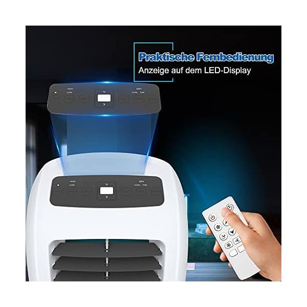Shinco 7000BTU Condizionatore Portatile, 2,1kW, 3 in 1 con Tubo di Scarico, Raffreddamento, Deumidificazione e Ventilazione, Eco R290 7 spesavip