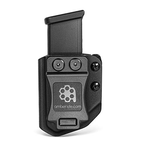 Universal Mag Carrier IWB/OWB Magazine Holster Fit: 9mm/.40 Double Stack - 9mm/.40 Single Stack - .45ACP Double Stack - .45ACP Single Stack (Black - 9mm/.40 Double Stack Mag Carrier)