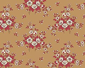 Little House on the Prairie Tan Red Floral A 7953 N from Andover