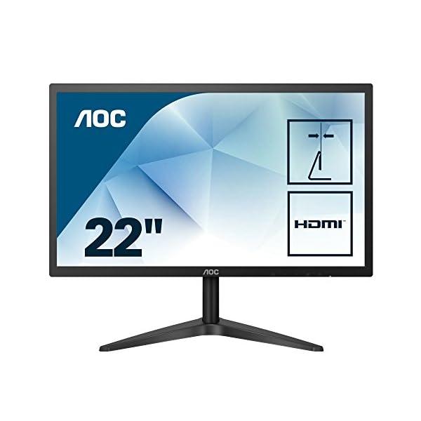 "AOC 22B1H 21.5"" LED Full HD (1920x1080) monitor, (VGA, HDMI) - Black 3"