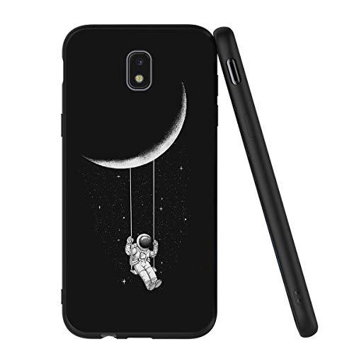 Yoedge Coque Samsung Galaxy J5 2017, Etui en Silicone avec Noir Motif Design Antichoc Housse de Protection Flim TPU Gel Case Cover Coque pour Telephone Galaxy J5 2017 5,2 Pouces, Astronaute