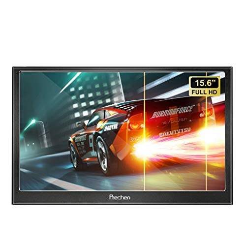 Tragbarer Monitor HDMI, 15,6 Zoll 1920x1080 IPS-Bildschirm Tragbare Display with Hdmi VGA Port Gaming Monitor Für Laptops PS3 PS4 Raspberry Pi Windows 7/8/10 System Home Office