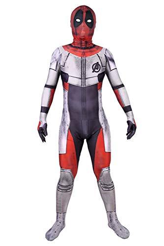 Endgame Dead Pool Quantum Realm Suits Cosplay Kostüm Jumpsuit Zentai Lycra Bodysuit Herren S