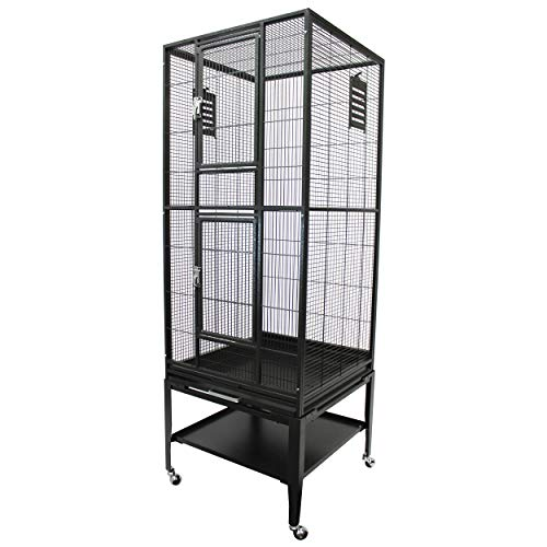 Madagascar Cage - 60' Tall Durable Spacious Metal Cage - for Sugar Gliders, Squirrels, Marmosets & Other Small Pets