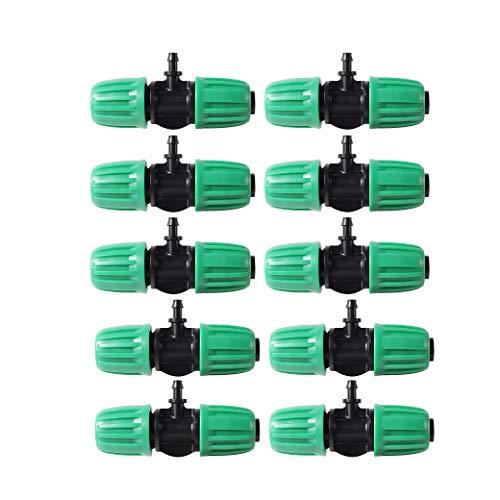 FULAIERGD Raccordo antigoccia per tubo di irrigazione da 10 pezzi da 1/2 pollice a 1/4 di pollice (adatto per 13 mm ID / 4 mm ID)