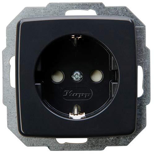 Kopp Schutzkontakt-Steckdose mit erhöhtem Berührungsschutz,16A, 250V~, Rivo anthrazit, 920215085