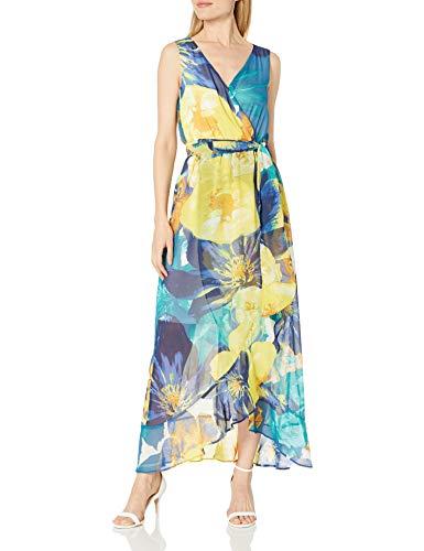 Sangria Damen Floral Chiffon Maxi Kleid fr besondere Anlsse, Multi, 40