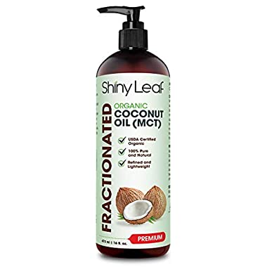 Fractionated Coconut Oil, 100% Pure & Natural Body Oil for Massage & Aromatherapy, Carrier Oil for Essential Oils, Non…
