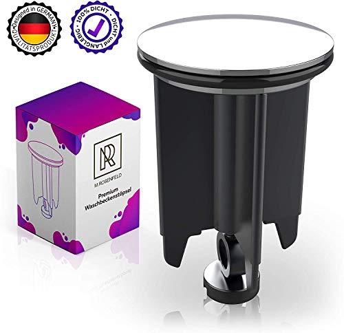 M. ROSENFELD Tapon Lavabo Premium 40mm Cromado – Tapon Universal para Lavabo Baño y Bidé - Altura Ajustable - Acero Inoxidable Resistente a la Cal - El Sellado