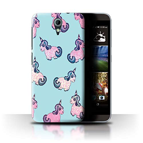 Stuff4 Hülle/Hülle für HTC Desire 620G / Glitzer/Aqua Rosa Muster/Einhorn/Unicorn Kollektion