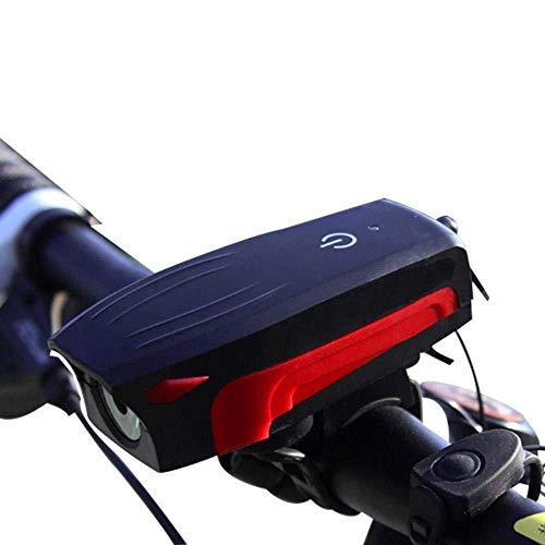 CXZHWGXT Fiets voorzijde, fiets achterlicht, USB oplader live, mountainbike licht touch hoorn licht, paardrijden apparatuur accessoires
