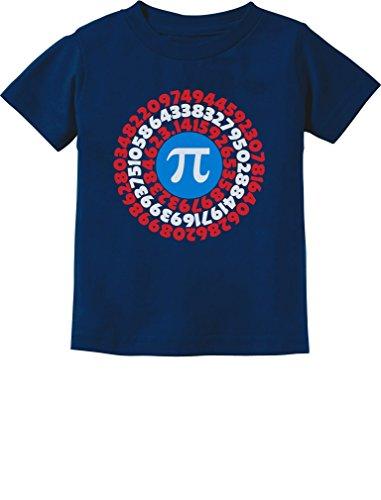 Pi Day Superhero - Captain Pi Gift for Math Geeks Toddler/Infant Kids T-Shirt 5/6 Navy