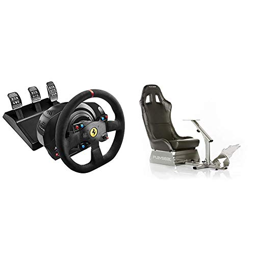 Thrustmaster T300 Integral Rw Volante, Alcantara Edition - PC/PS4/PS3 + Playseat Evolution Black - Nuovo modello