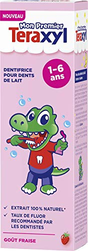 Teraxyl - Dentifrice pour Dents de Lait - 1 à 6 ans - Junior/Enfant - Goût Fraise - 50 ml