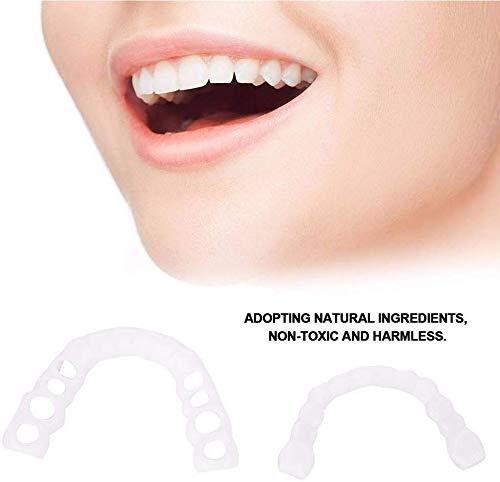 ZYXBJ Schönheitszähne weiß schön und ordentlich, sofort perfektes Lächeln Bequeme Passform Flexzahn Furnier Wiederverwendbare und abnehmbare Zahnpflege
