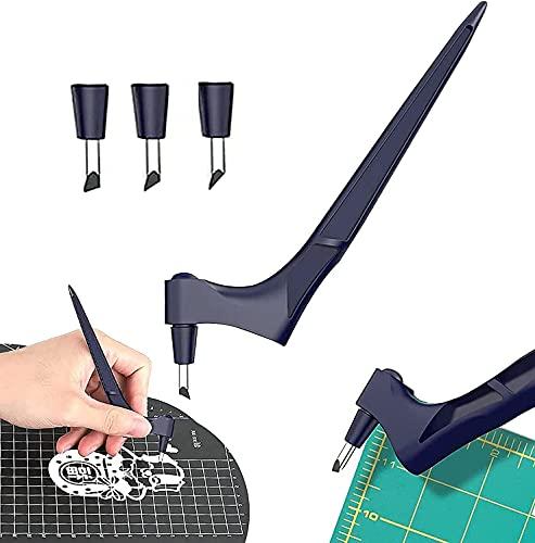 Handwerks-Schneidwerkzeuge, Edelstahl-Kunst-Schneidewerkzeuge mit 360-Grad-Drehklinge, Kunst-Schneidwerkzeug für Handwerk, Scrapbooking, Präzisions-Schneidwerkzeug für...