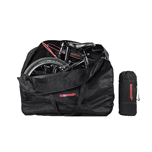 MORUDO Bicicleta Bolsa de Transporte Bolsa Bicicleta Plegable para Plegable para avión Auto Metro 14/16/20Pulgadas, Schwarz 20 Zoll