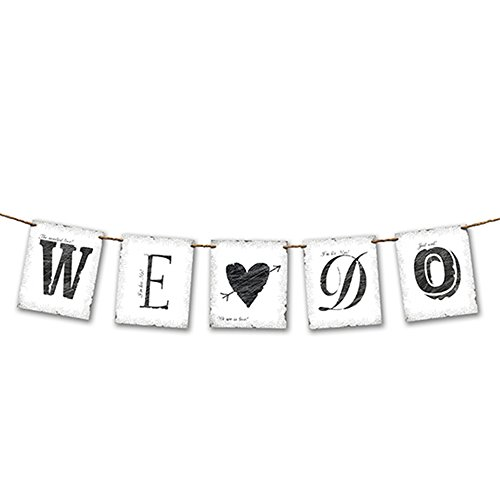 Bannière décorative pour mariage décoration wE dO