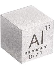 10 mm Cubo Metal Aluminio 99,99% Alta Pureza Cubo Aluminio Metal Tallado Elemento Periódico Tabla Cubo
