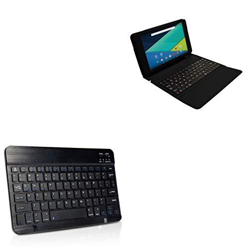 Visual Land Prestige Elite 9QL Keyboard, BoxWave [SlimKeys Bluetooth Keyboard] Portable Keyboard with Integrated Commands for Visual Land Prestige Elite 9QL - Jet Black