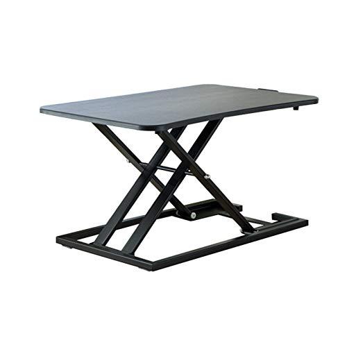 LiRuiPengBJ Standing desk converter Sit- Stand Desk Converter, Height Adjustable Super Sturdy Office Workstation Ergonomic X-Frame Riser PC Computer Screen, Laptop (Color : Black)