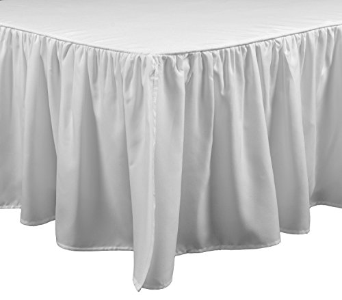 Brielle Stream California King Bed Skirt, Cal, White
