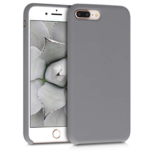 kwmobile Apple iPhone 7 Plus / 8 Plus Cover - Custodia per Apple iPhone 7 Plus / 8 Plus in Silicone TPU - Back Case Cellulare Grigio Metallizzato