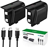 Xbox One Battery Pack Rechargeable, YAEYE Xbox One Controller Charger with 2pcs 1200