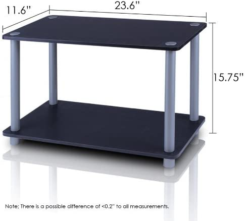 holz Furinno 4-Ebenen Mehrzweck-Regal Espresso//Schwarz 27 x 46.9 x 92.89 cm