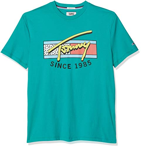 Tommy Jeans heren t-shirt TJM NEON SCRIPT TEE