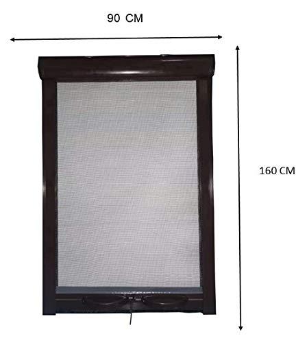 PALMAT Moskitonetz für Fenster verhindert Insektenbefall Einstellbares Fliegennetz (90 x 160 x 5 cm, Braune)